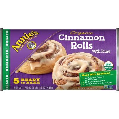 Annie's Organic Cinnamon Rolls with Icing - 17.5oz/5ct