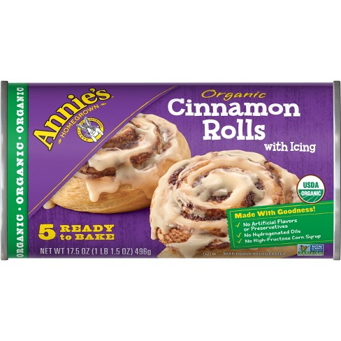 Annie's Organic Cinnamon Rolls with Icing - 17.5oz/5ct - image 1 of 3