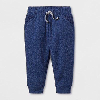 Baby Boys' French Terry Jogger Pants - Cat & Jack™ Navy <br>0-3M