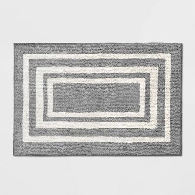 2'X3' Tetra Border Rug Gray - Threshold™