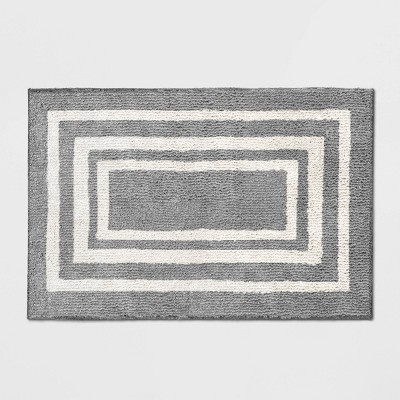2'X3' Tetra Boarder Rug Gray - Threshold™