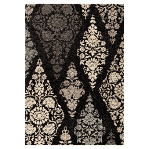 """Black Abstract Woven Area Rug - (7'10""""X10'10"""") - Orian - image 1 of 4"""