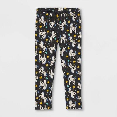 Toddler Girls' Unicorn Leggings - Cat & Jack™ Charcoal Gray 12M