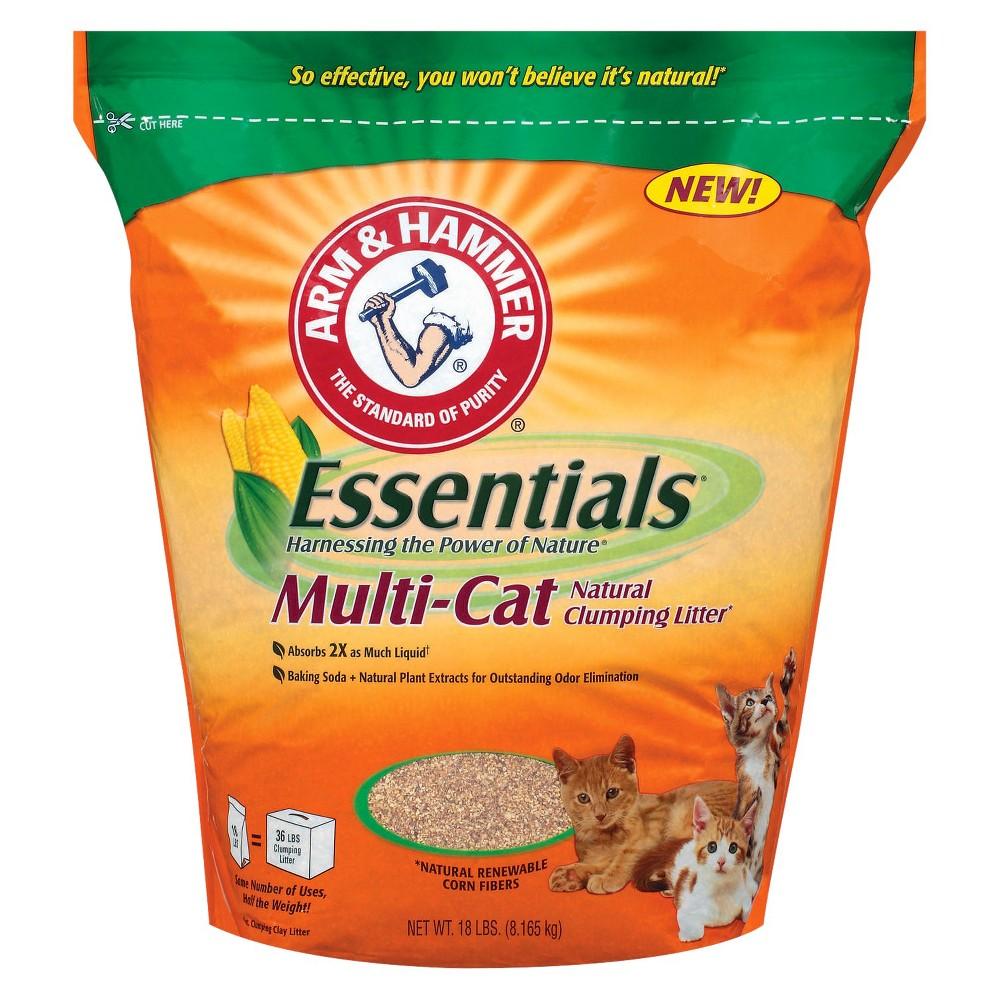 Arm & Hammer Essentials Natural Clumping Cat Litter - 18lbs