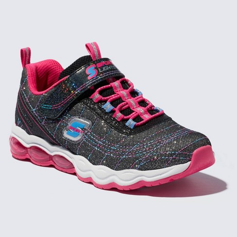 Girls' S Sport by Skechers Tamarah Light Up Athletic Shoes - Black/Pink - image 1 of 3
