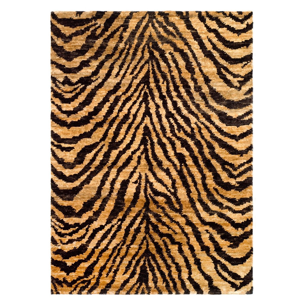 3'X5' Animal Print Accent Rug Natural/Black - Safavieh