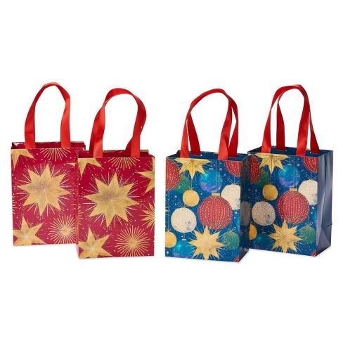 4ct Medium Papyrus Christmas Magic Stars and Ornaments Gift Bag Set - image 1 of 4