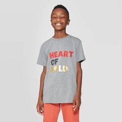 Boys' Valentines Day Short Sleeve Graphic T-Shirt - Cat & Jack™ Gray