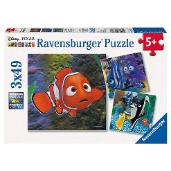 Ravensburger Disney Pixar Finding Nemo: 3pk In The Aquarium Puzzle 147pc