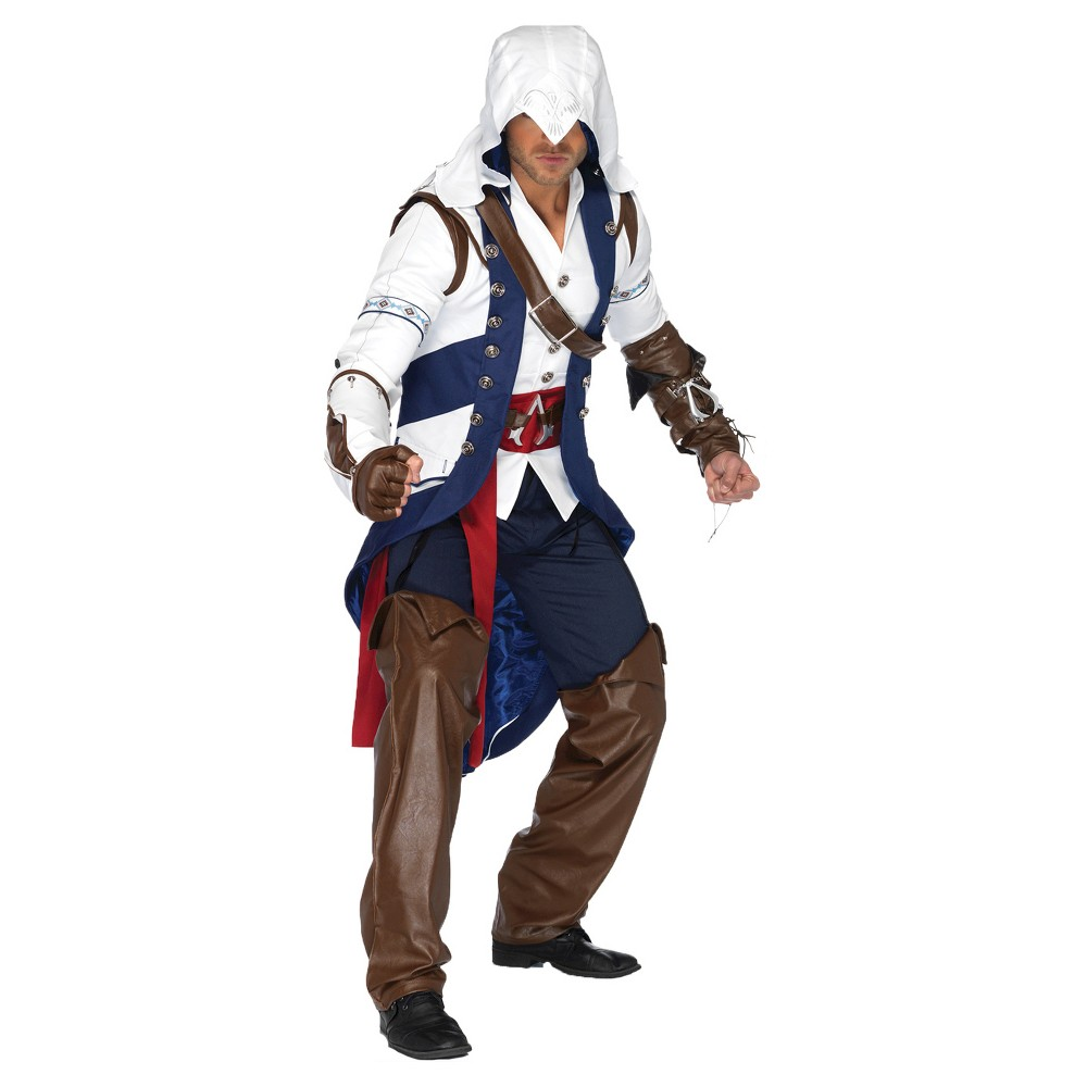 Image of Halloween Assassins Creed Men's Connor Costume Small/Medium, Blue