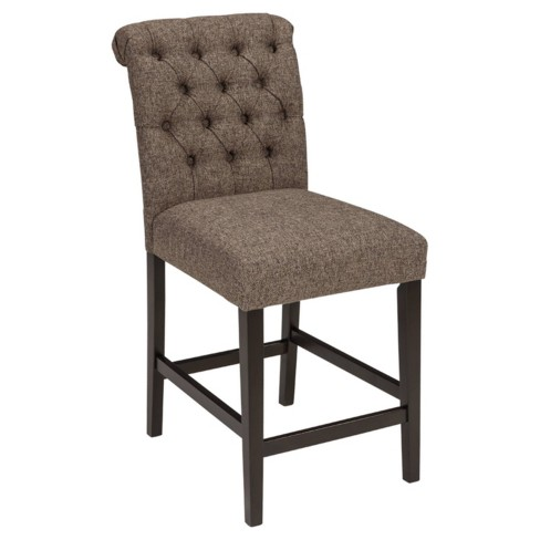 Tripton Upholstered Barstool Graphite - Signature Design by Ashley - image 1 of 3
