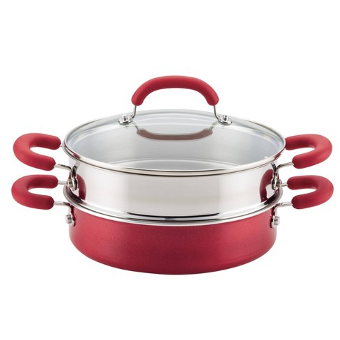Rachael Ray Create Delicious 3qt Covered Sauteuse & Steamer Red - image 1 of 4