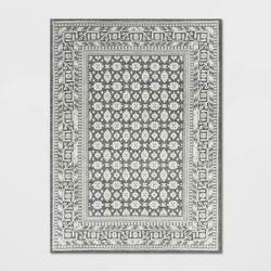 Indoor/Outdoor Floral Woven Area Rug - Threshold™