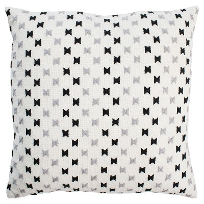 Black/White Holiday Throw Pillow (20 x20 )- Rizzy Home