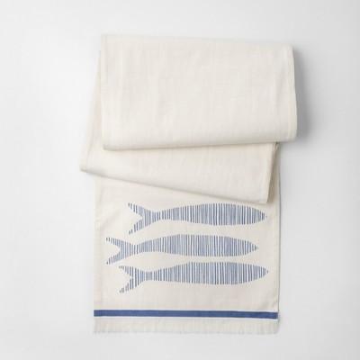 Cream Fish Table Runner (14 x72 )- Threshold™