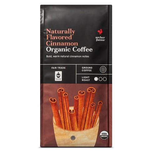 Naturally Flavored Cinnamon Organic Light Roast Ground Coffee - 10oz - Archer Farms™ - image 1 of 3