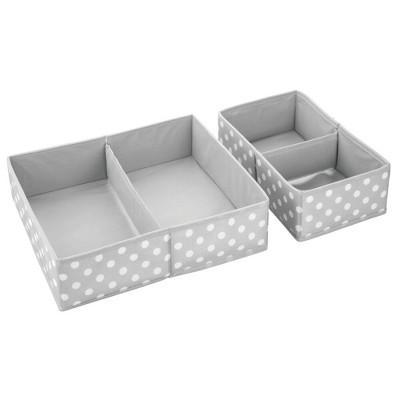 mDesign Fabric Dresser Drawer Storage Organizers, Set of 4
