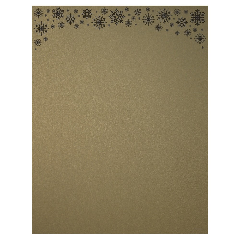 40ct Gold Shimmer Snowflake