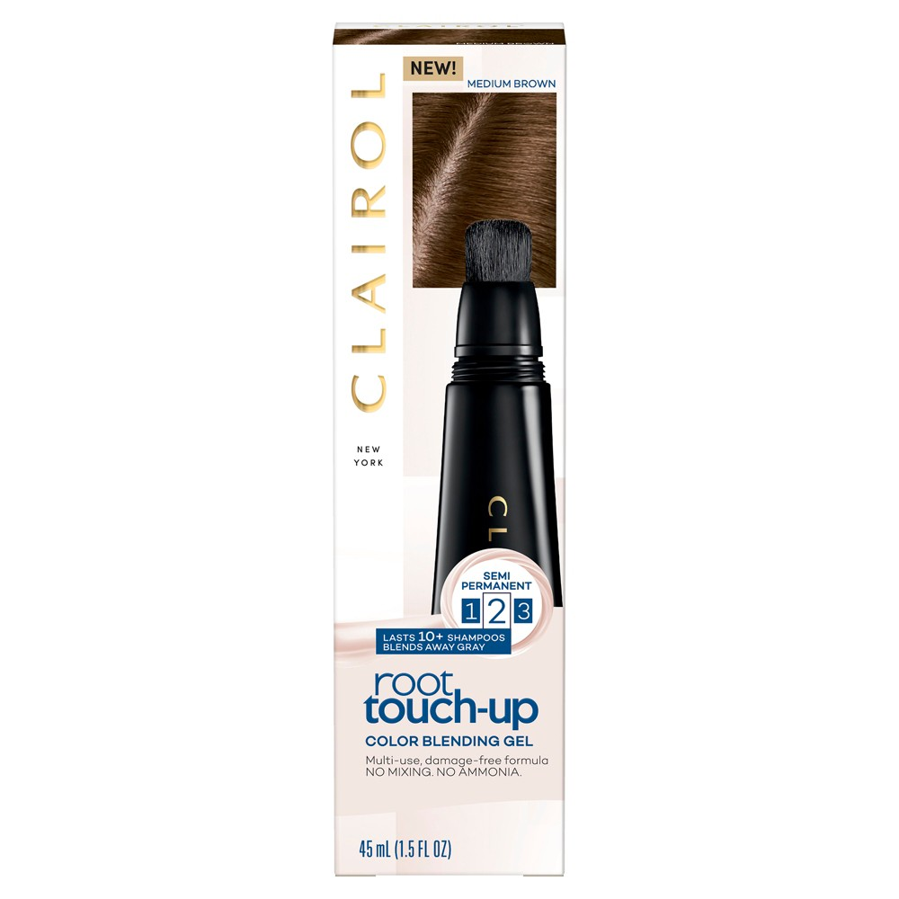 Image of Clairol Semi Permanent Root Touch Up Color Blending Gel - Medium Brown - 1.5 fl oz