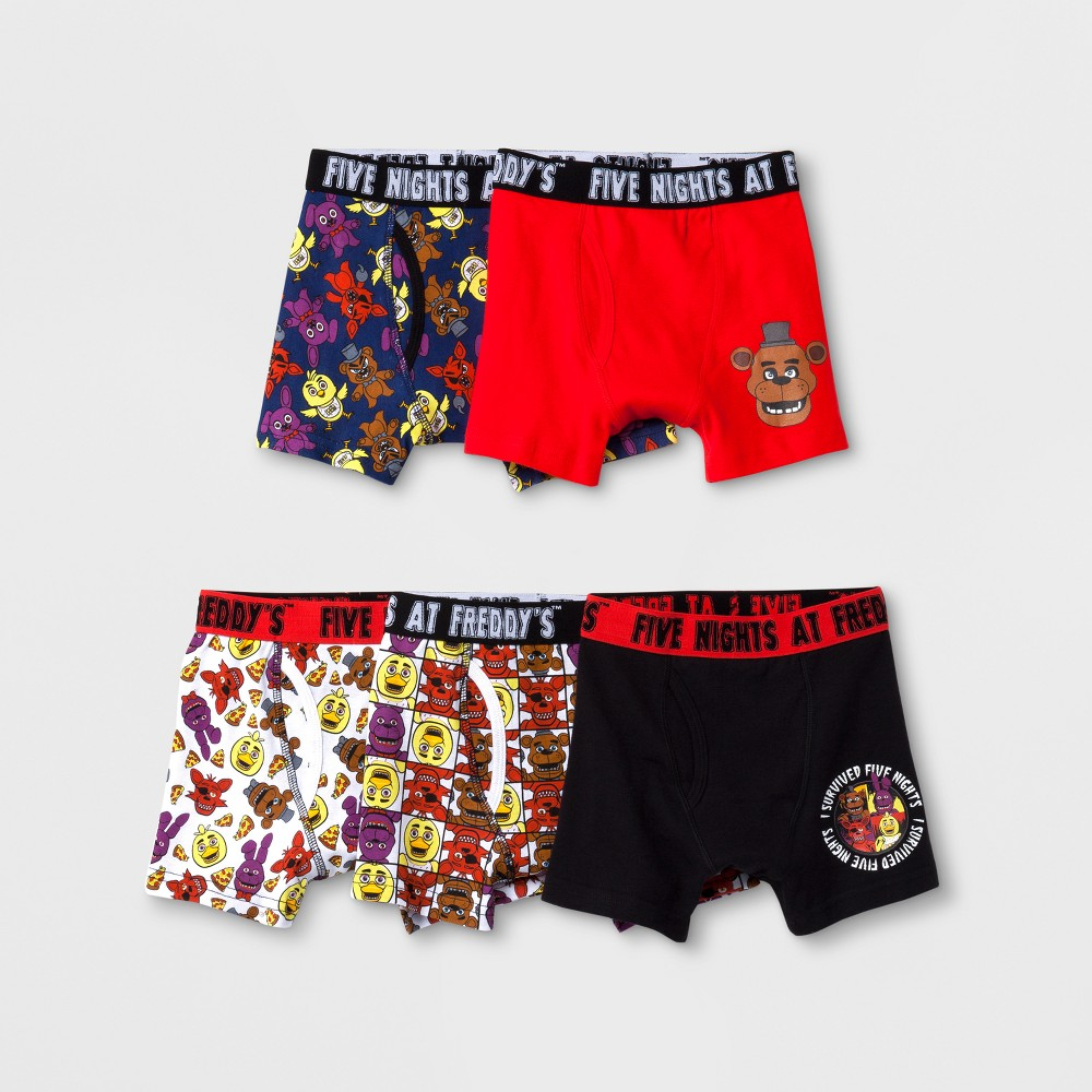 Image of Boys' 5pk Five Nights at Freddy's Boxer Briefs - 4, Boy's, MultiColored