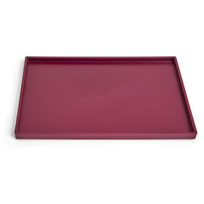 TRU RED Slim Stackable Plastic Tray, Purple TR55267