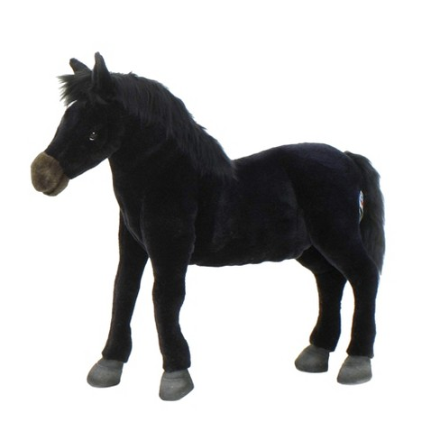 Hansa Wildfire Black Horse Plush Toy - image 1 of 1