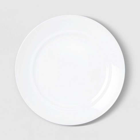"10"" Glass Dinner Plate White - Room Essentials™ - image 1 of 3"