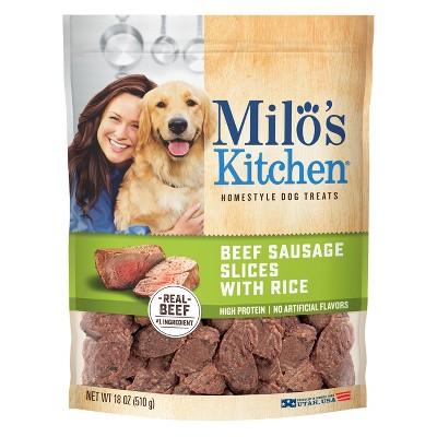 Milo's Beef Sausage & Rice Slices Dog Treats - 18oz