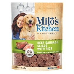 Milo's Beef Sausage & Rice Slices Treat 18oz