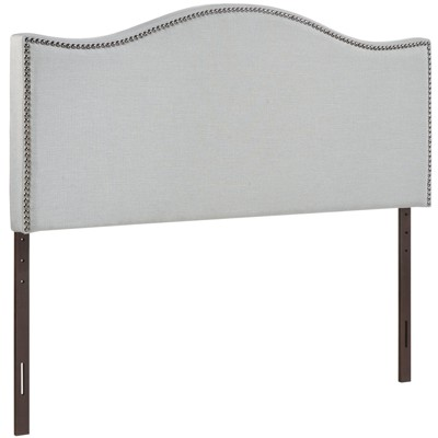 Curl Queen Nailhead Upholstered Headboard Sky Gray - Modway