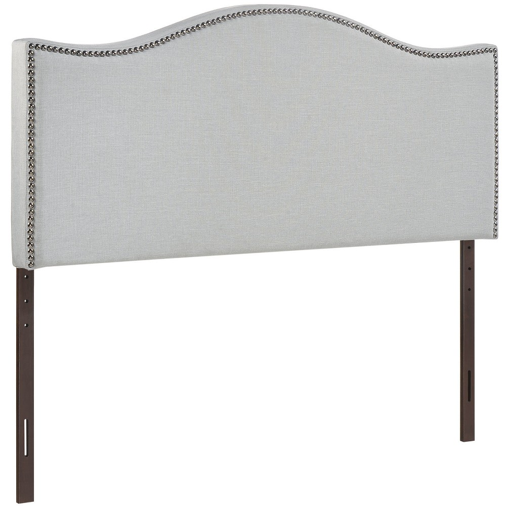 Best Price Curl King Nailhead Upholstered Headboard Sky Gray Modway
