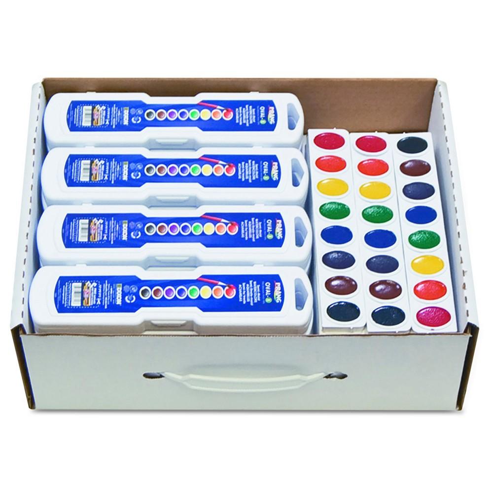 Prang Professional Masterpack Watercolors - Multi-Colored (36 Per Set), Black/Blue/Green/Brown