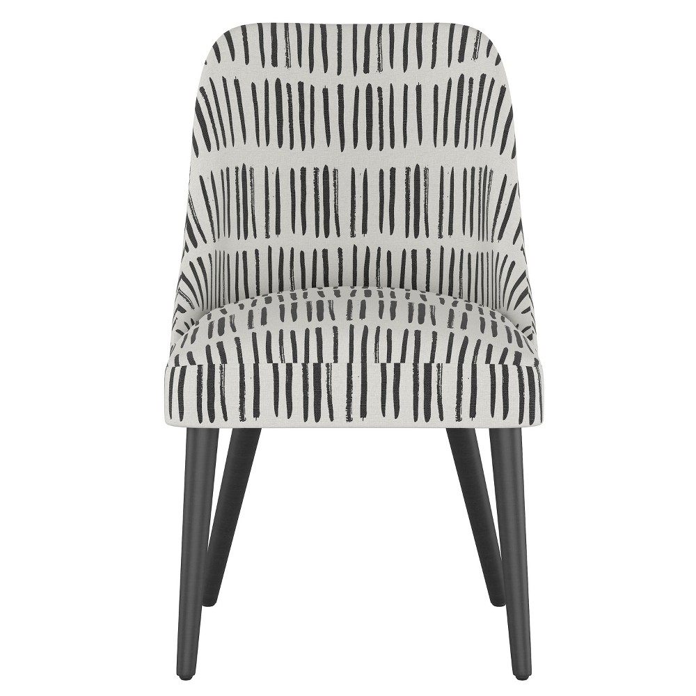 Geller Modern Dining Chair White with Black Legs - Project 62