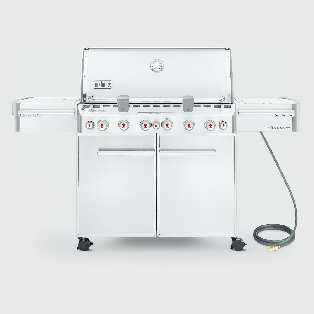 Weber Summit S-670 Natural Gas Grill, Silver 14998381