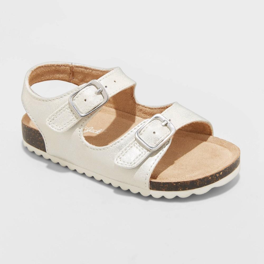 Toddler Girls 39 Tisha Footbed Sandals Cat 38 Jack 8482 White 7