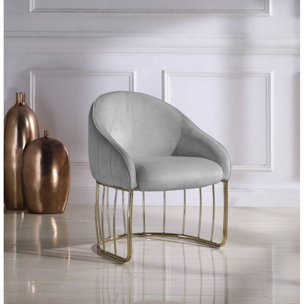 Vivienne Accent Chair Gray Chic Home Design
