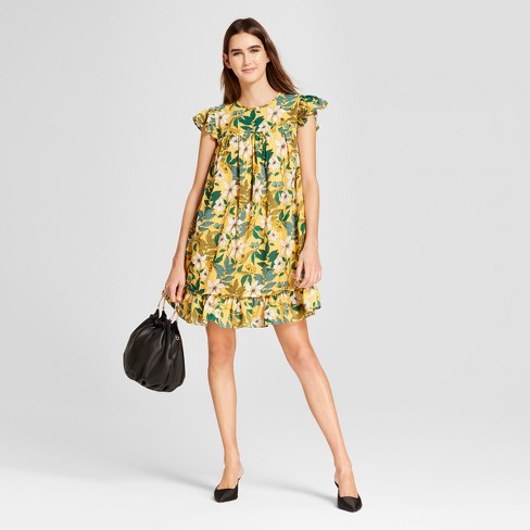Womens Short Sleeve Babydoll Mini Dress Who What Wear Target
