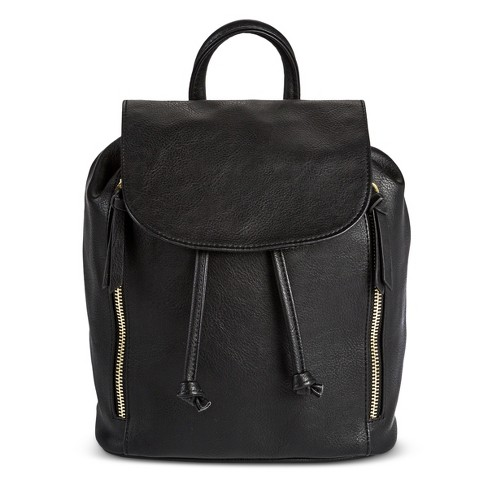 Women's Mini Flap Backpack Black - Mossimo Supply Co.™ - image 1 of 3
