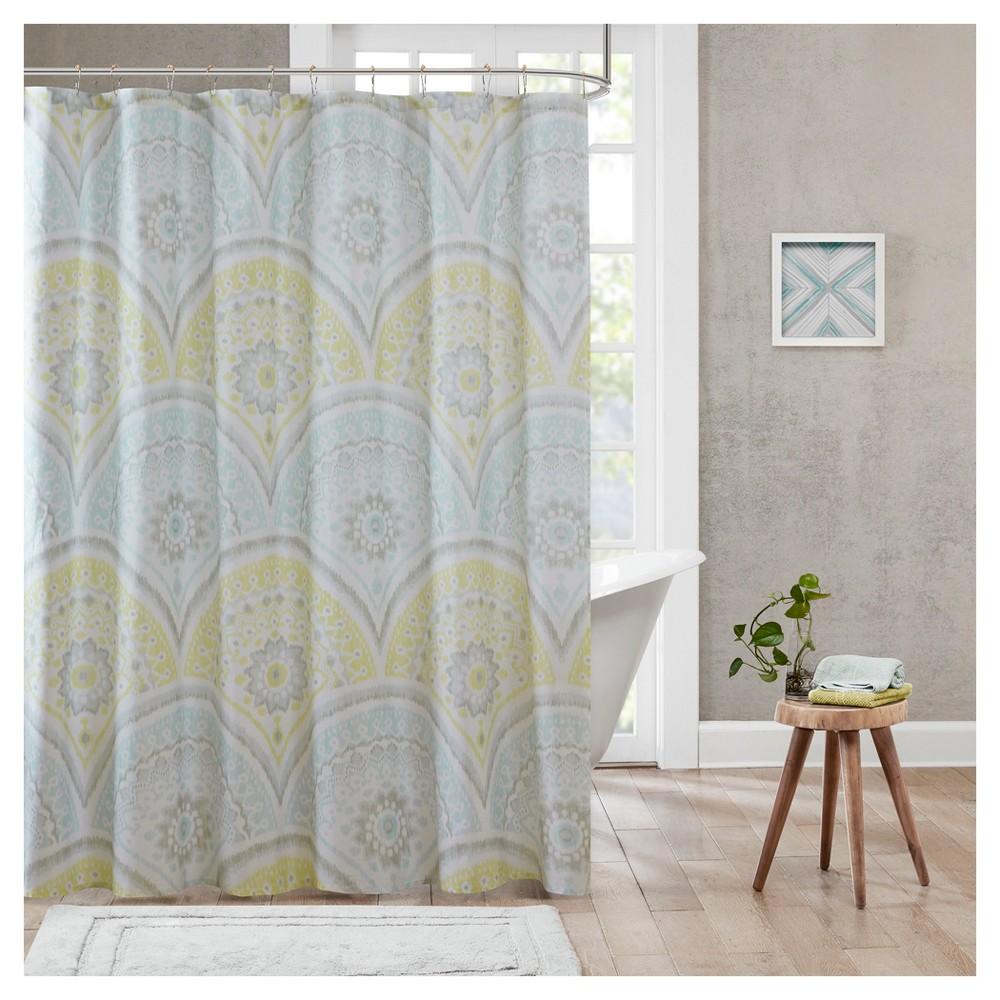 Medallion Shower Curtain Yellow