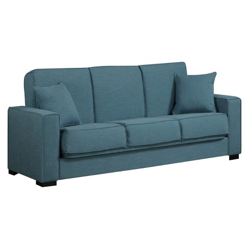 Malibu Linen Convert-a-Couch Futon Sofa Sleeper - Handy Living - image 1 of 3