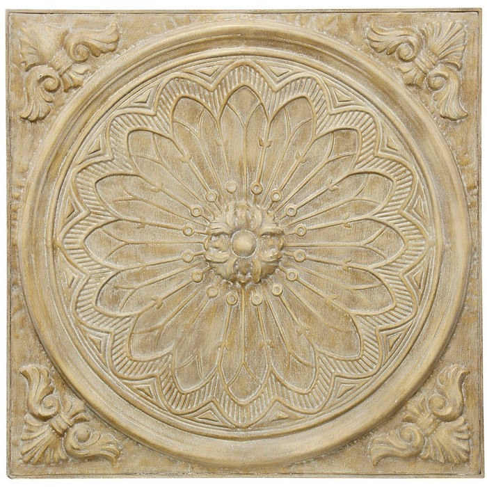 """36.2"""" Slate Medallion Traditional Dimensional Decorative Wall Art Natural - StyleCraft - image 1 of 2"""