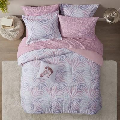 Samara Zebra Printed Comforter and Sheet Set