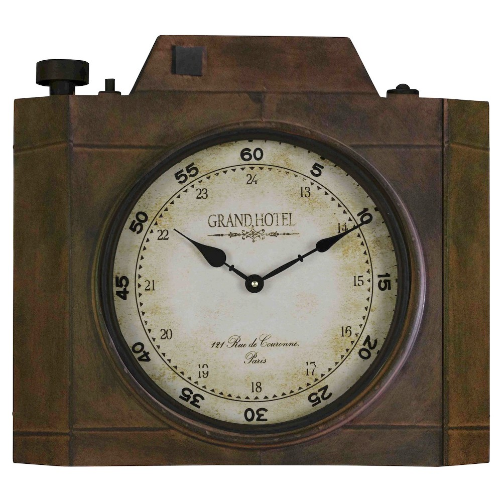 Image of Valerian Camera Shaped Wall Clock Bronze - Cooper Classics