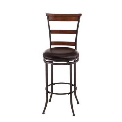 "30"" Cameron Swivel Ladder Back Barstool Brown - Hillsdale Furniture"