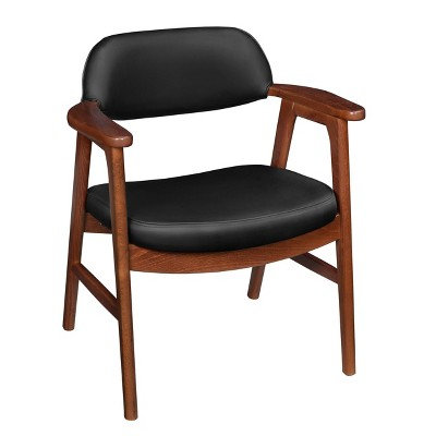 Elsby Sustainable Leather Side Chair Red/Black - Regency