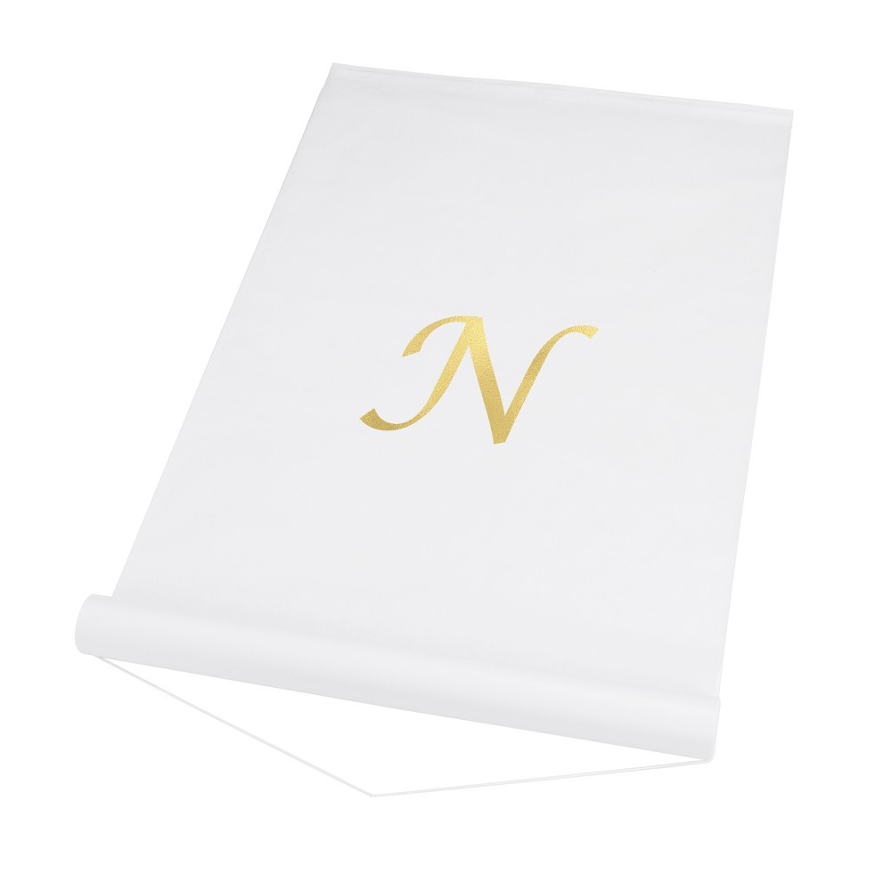 Cathy's Concepts White Personalized Wedding Aisle Runner - N