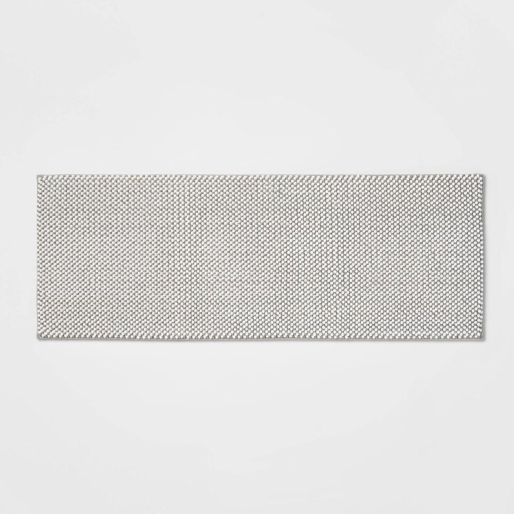 22 34 X60 34 Low Chenille Memory Foam Bath Rug Light Gray Threshold 8482