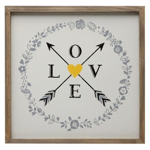 "Love & Arrows Wall Décor (14""x14"") - 3R Studios - image 1 of 1"