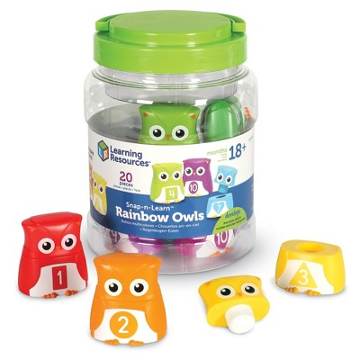 Learning Resources Snap-n-Learn Rainbow Color, Shape, Letter Owls