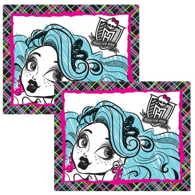 2pc Pillow Shams Freaky Fashion Pillowcases Bedding Accessories - Monster High..
